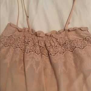 Rebecca Taylor Lace Inset Embroidered cami